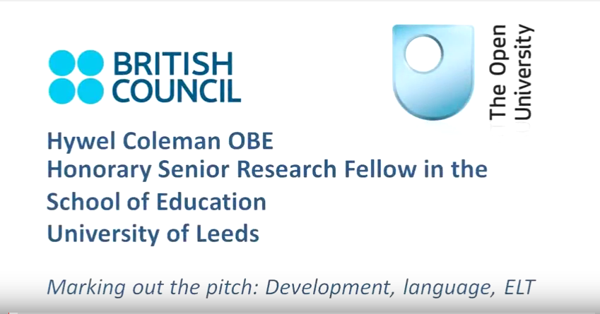 Marking out the pitch : Development, languange, ELT